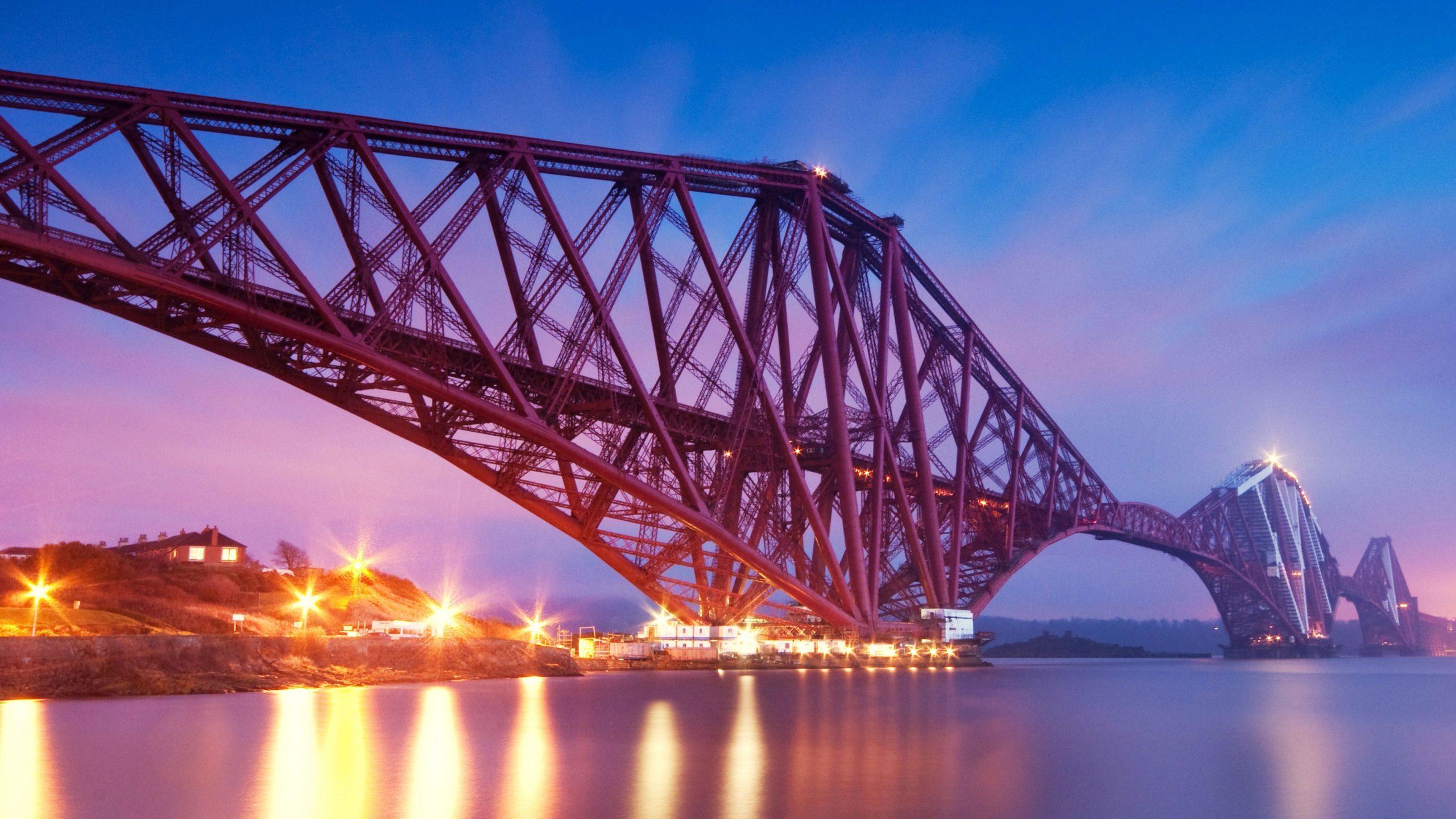 Forth Railway Bridge In The Evening buikt by Sir William Arrol & Co Ltd