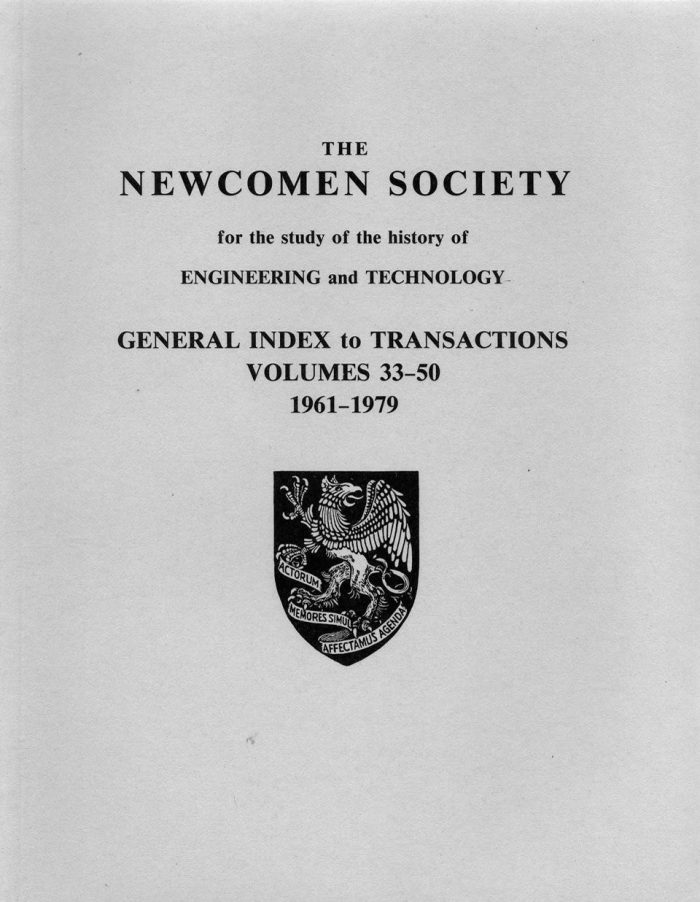 The Journal - General Index V33 to 50 (1961-1979) - cover