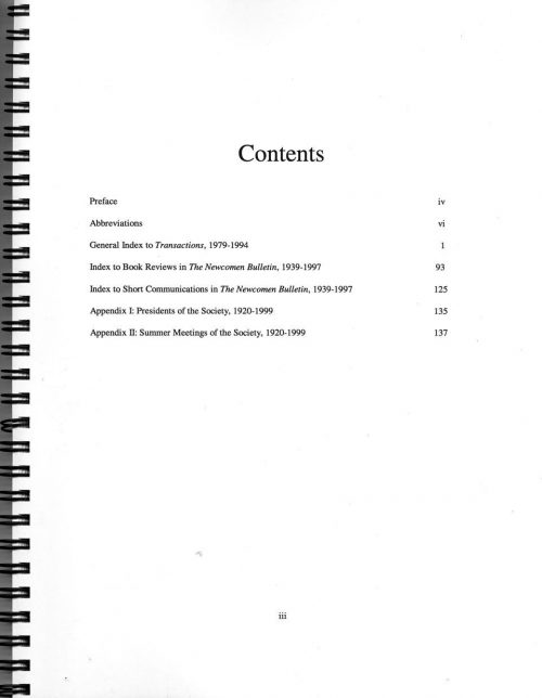The Journal - General Index V51 to 65 (1979-1994) - contents
