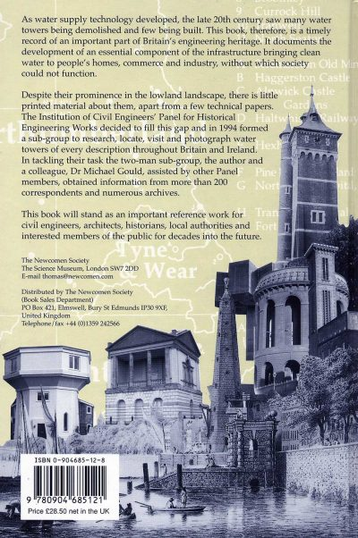 Water Towers Of Britain by Barry Barton - back cover