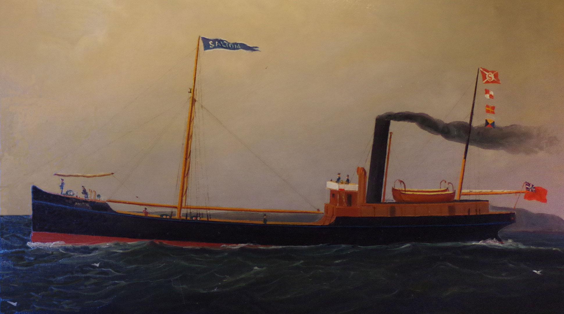 Tramp Ship Painting