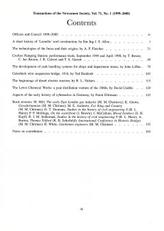 The Journal - V71 No1 1999 to 2000 - contents