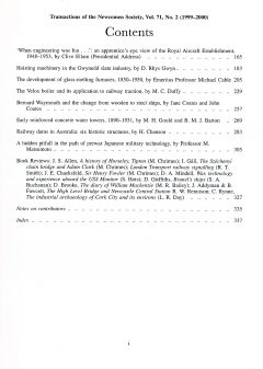 The Journal - V71 No2 1999 to 2000 - contents