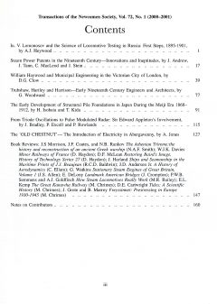 The Journal - V72 No1 2000 to 2001 - contents