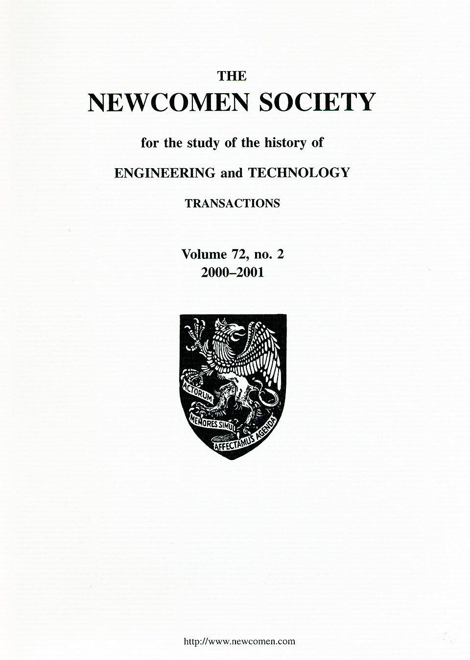 The Journal - V72 No2 2000 to 2001 - cover