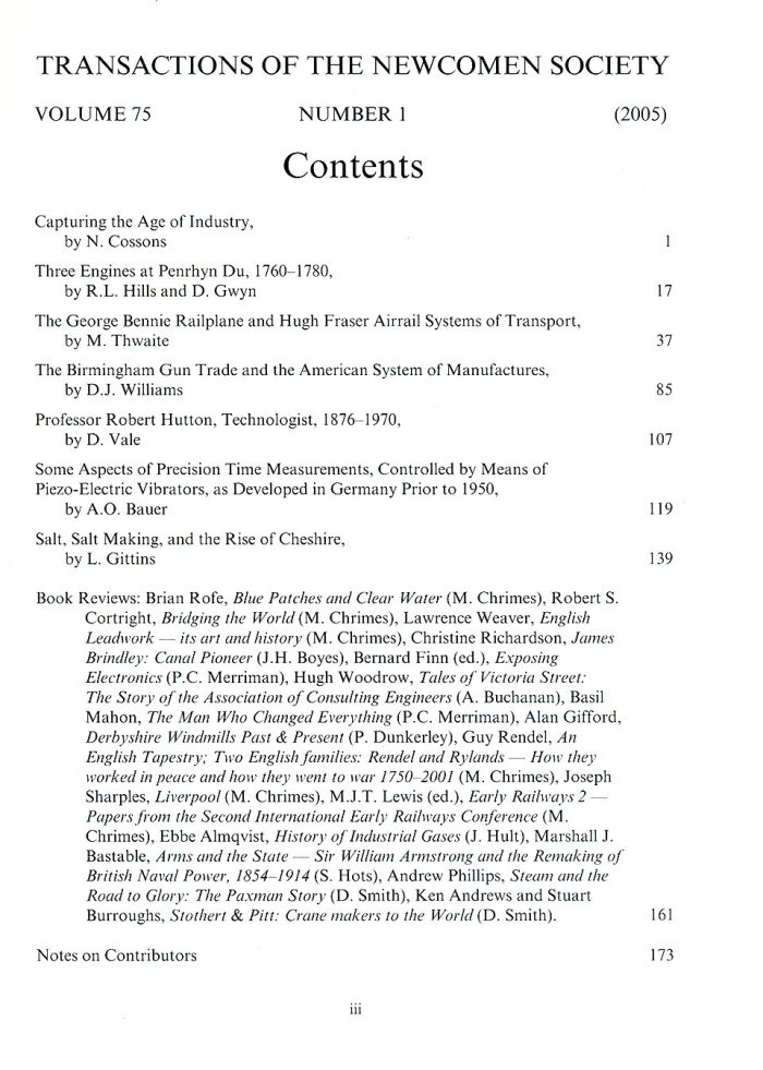 The Journal - V75 No1 2005 - contents