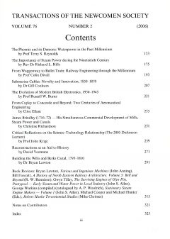 The Journal - V76 No2 2006 - contents