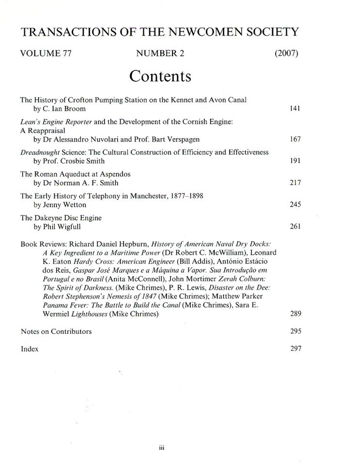 The Journal - V77 No2 2007 - contents