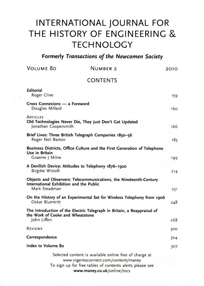The Journal - V80 No2 2010 - contents