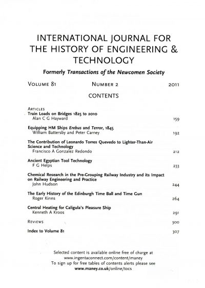 The Journal - V81 No2 2011 - contents