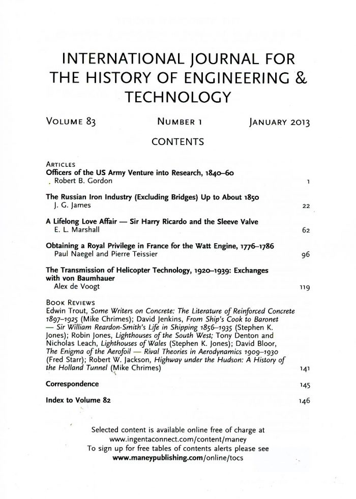 The Journal - V83 No1 2013 - contents