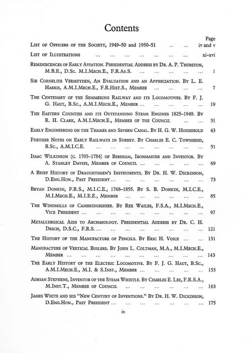 The Journal - V27 No1 1949-51 - contents