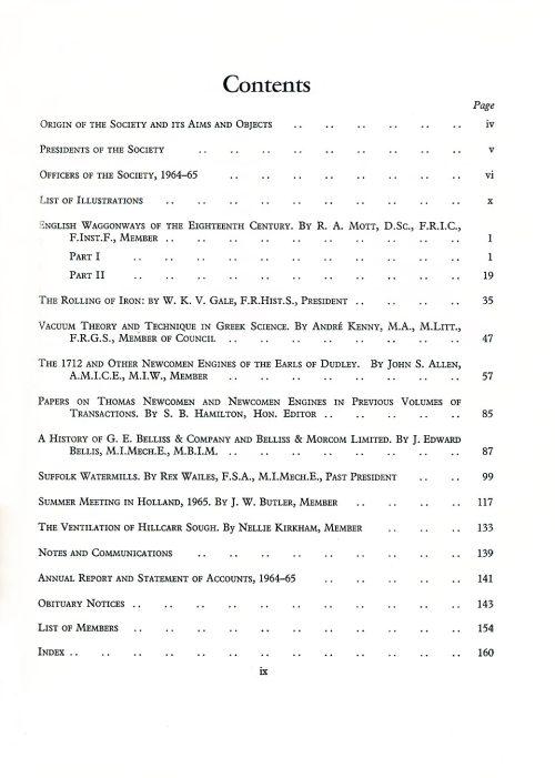 The Journal - V37 No1 1964-65 - contents Hardback
