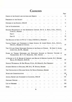 The Journal - V37 No1 1964-65 - contents Paperback