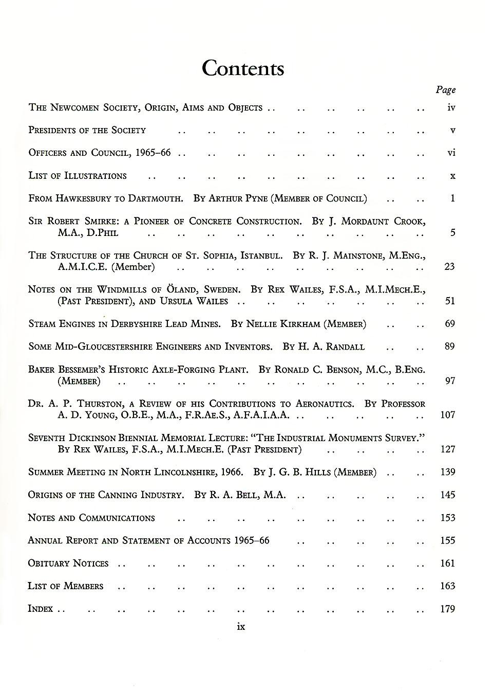 The Journal - V38 No1 1965-66 - contents Hardback