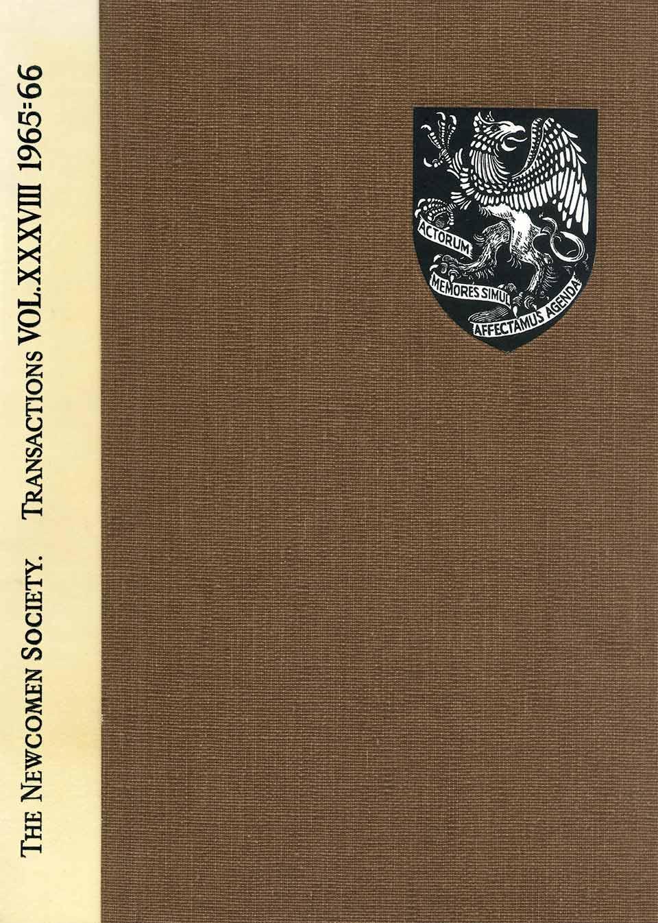 The Journal - V38 No1 1965-66 - cover Hardback