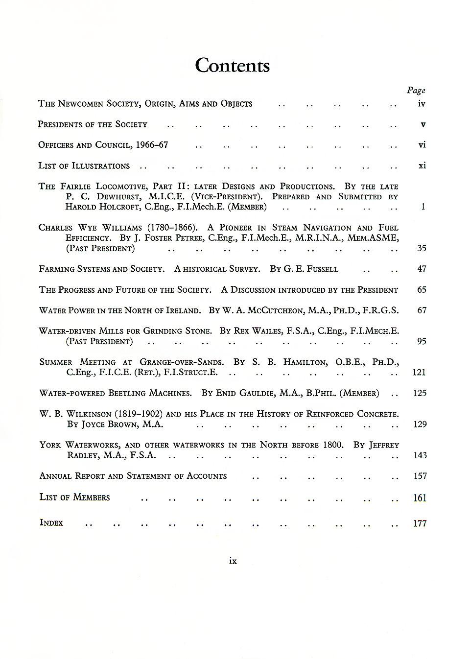 The Journal - V39 No1 1966-67 - contents Hardback