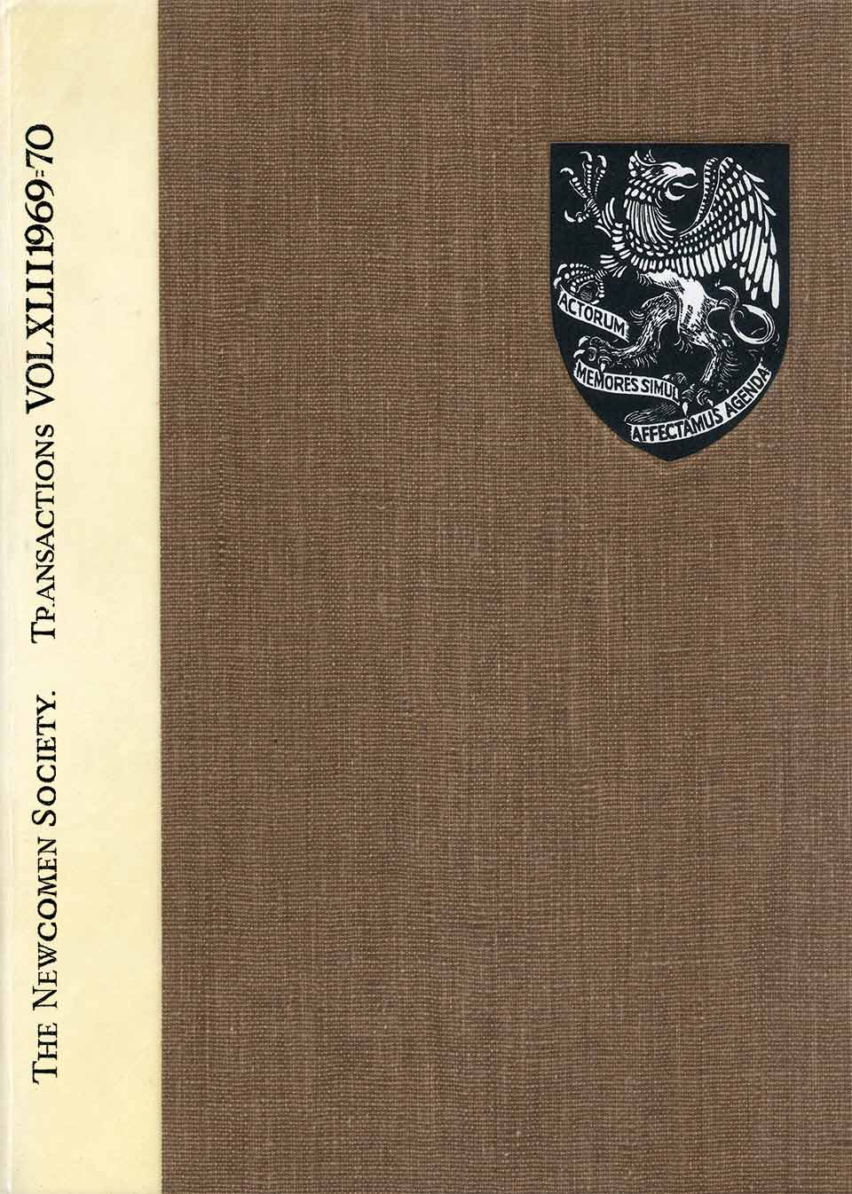 The Journal - V42 No1 1969-70 - cover Hardback
