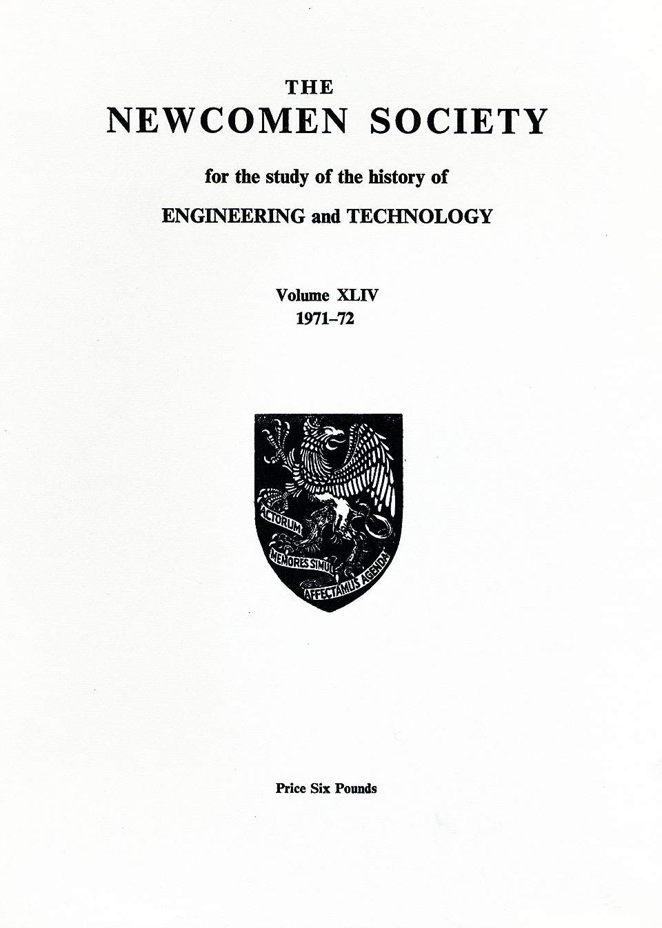 The Journal - V44 No1 1971-72 - cover
