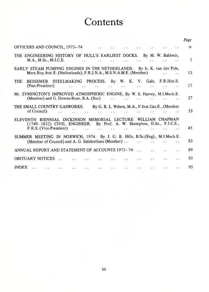 The Journal - V46 No1 1973-74 - contents