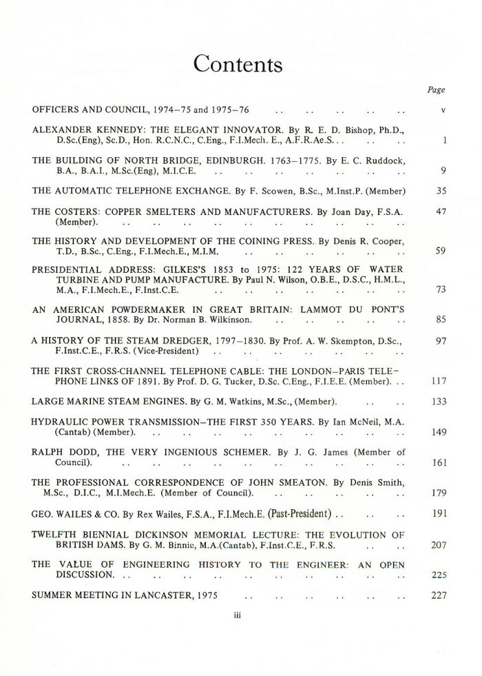 The Journal - V47 No1 1974-76 - contents
