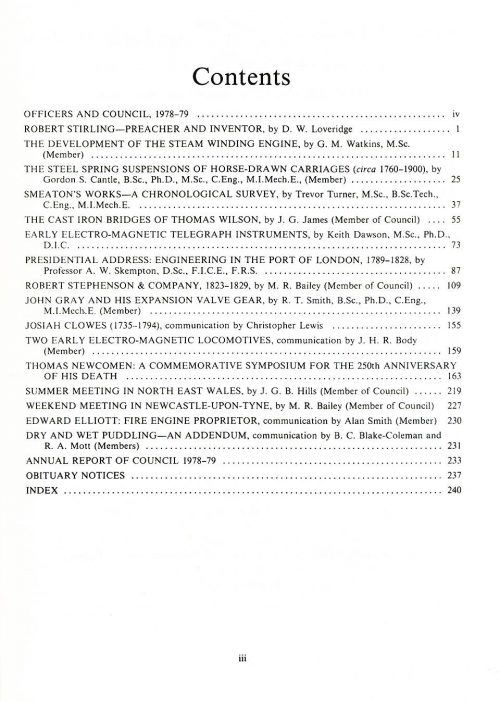 The Journal - V50 No1 1978-79 - contents