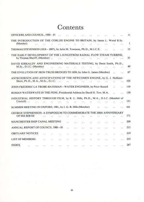 The Journal - V52 No1 1980-81 - contents
