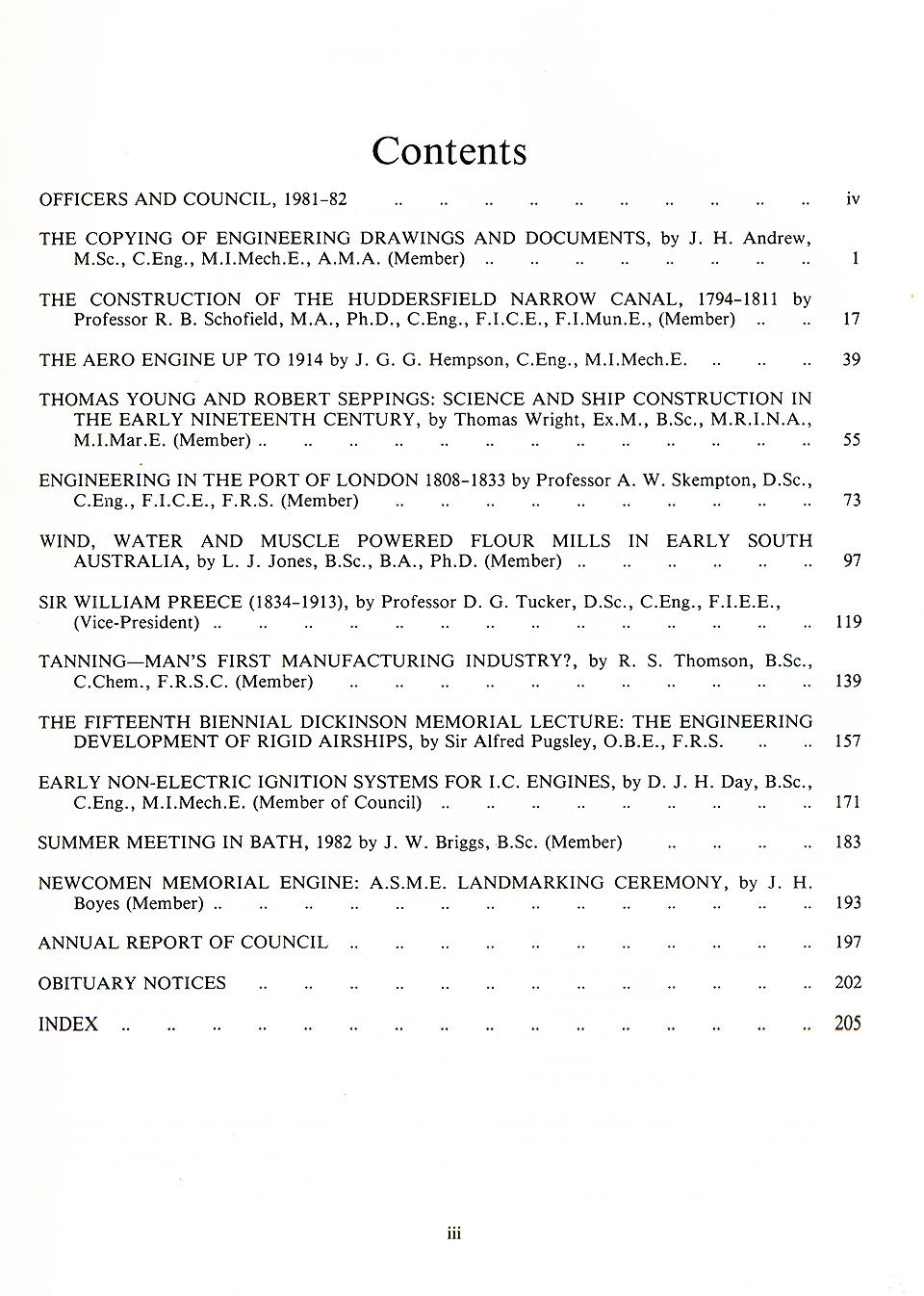 The Journal - V53 No1 1981-82 - contents Paperback