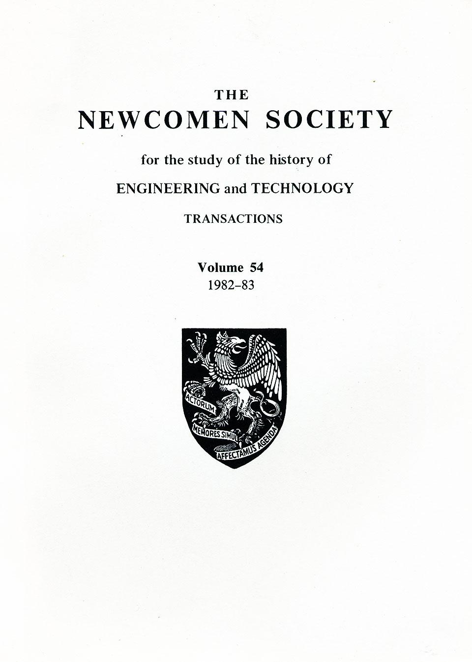 The Journal - V54 No1 1982-83 - cover Paperback