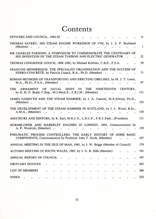 The Journal - V56 No1 1984-85 - contents