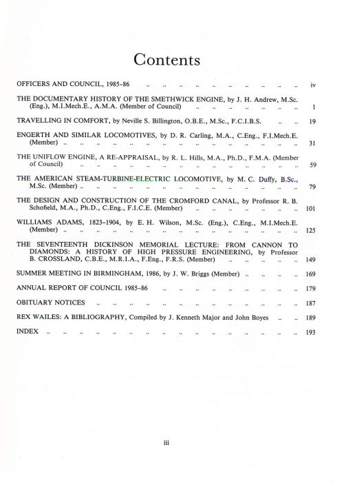 The Journal - V57 No1 1985-86 - contents