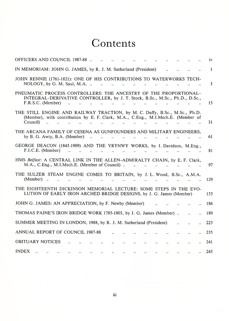 The Journal - V59 No1 1987-88 - contents Paperback (Scrappy Condition)