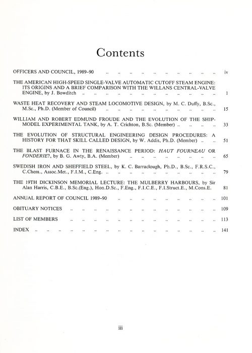 The Journal - V61 No1 1989-90 - contents Paperback