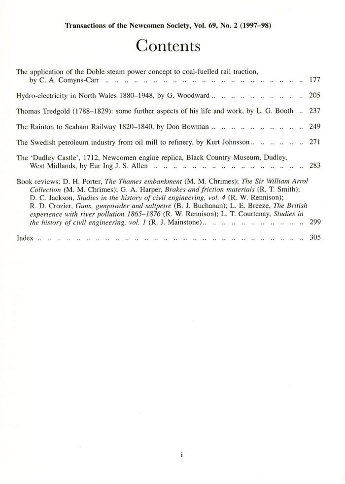 The Journal - V69 No2 1997-98 - contents