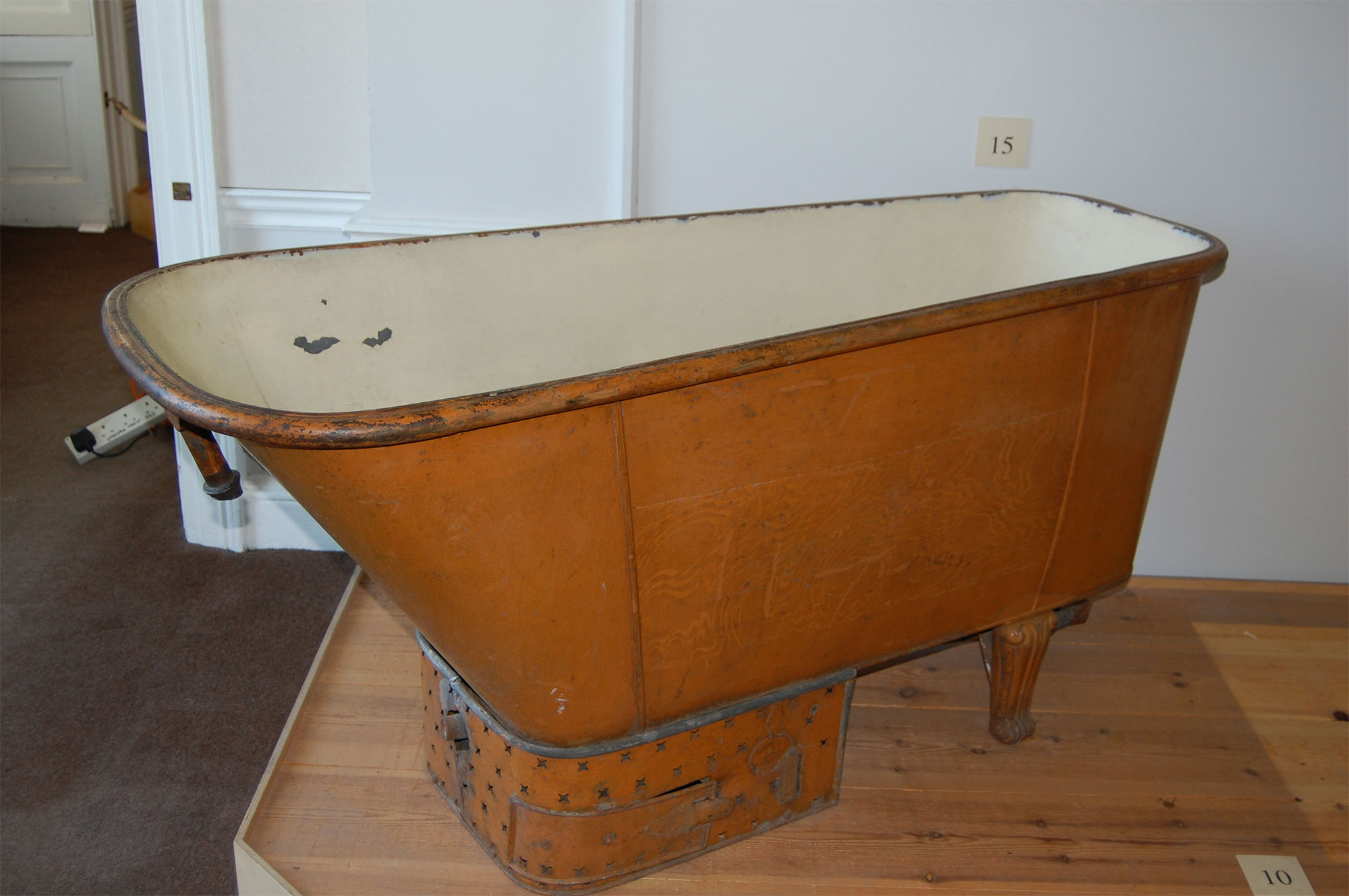 Gas bath originally installed at Clevedon Court and now in Blaise Castle Museum