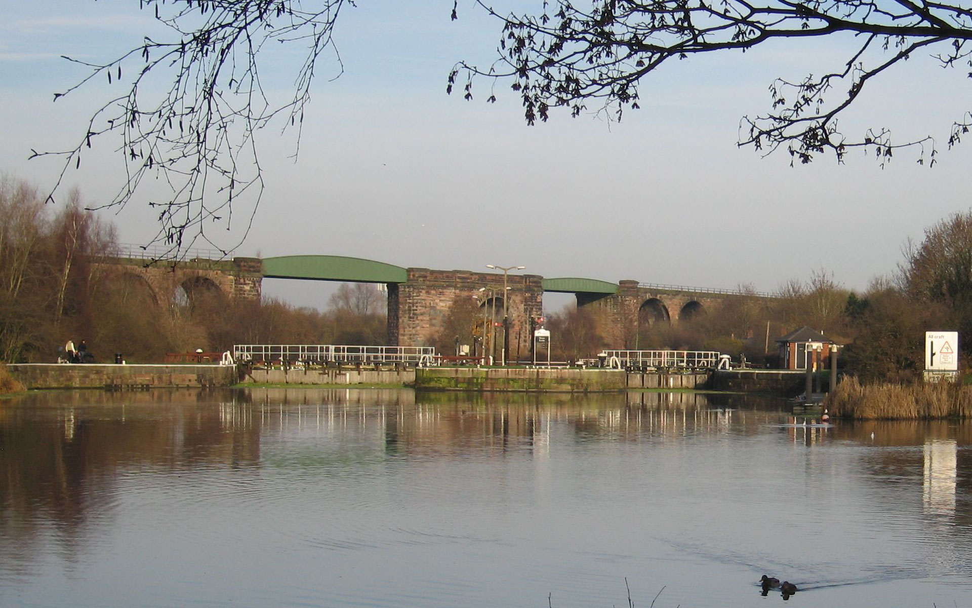 Northwich Railway Viaduct & Hunt's Lock