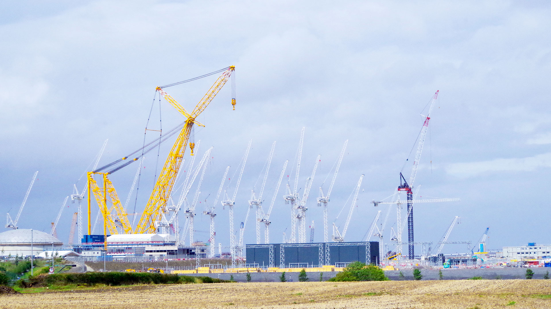 Hinkley C construction site Aug 2020 (photo credit: Jonathan Aylen)