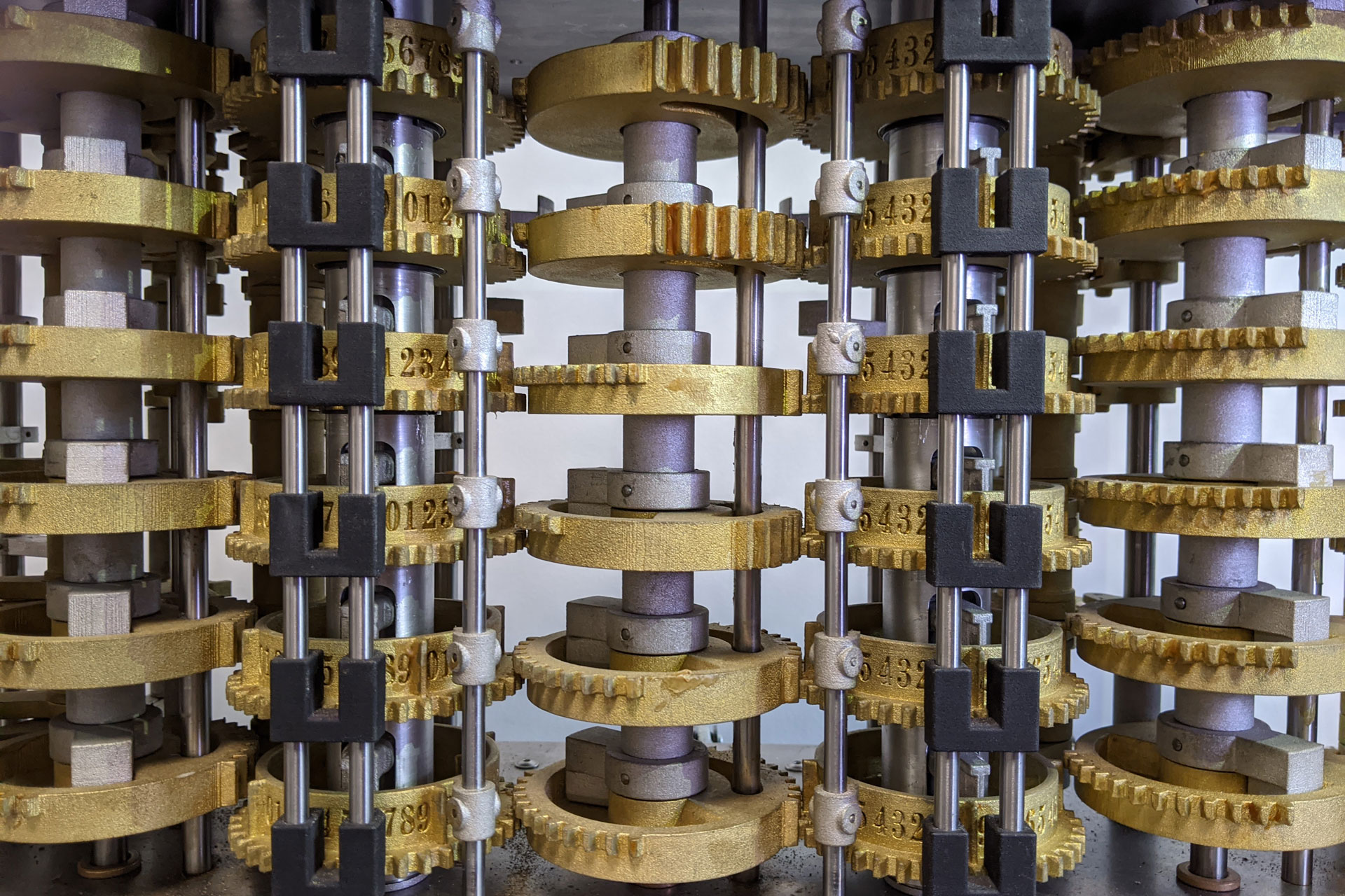 Plummer's Difference Engine Number 3 (detail) - photo credit: Adrian Johnstone