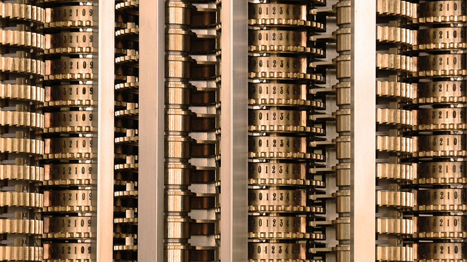 Charles Babbage - Difference Engine detail