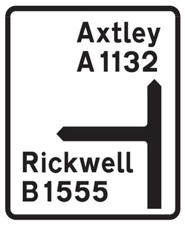 UK B Road Sign - Directions