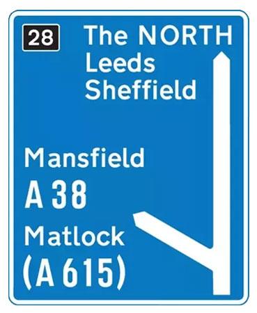 UK Motorway Sign - Directions