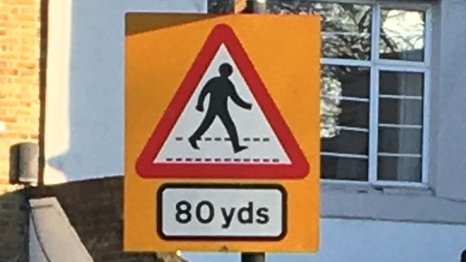 UK Road Signs - Zebra Crossing
